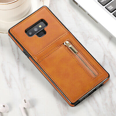 Luxury Leather Zipper Wallet Card Back Case Cover For Samsung Galaxy S10 Note 9