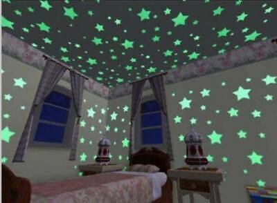 100Pcs Wall Stickers Home Decor Glow In The Dark Star sticker Decal For Kid Room
