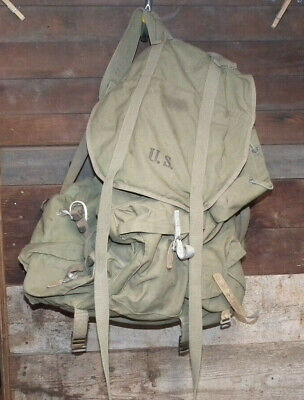 Vintage Wwii Us Army 10Th Mountain Division Rucksack 1943 Made In Usa L@@K