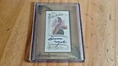 2014 Allen & Ginter Framed Mini Auto. Diana Nyad Team USA Swimmer.