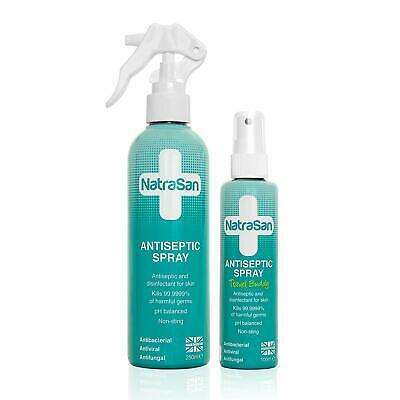 UK Made NatraSan Antiseptic Spray pH Balanced 250ml and 100ml FREE DELIVERY