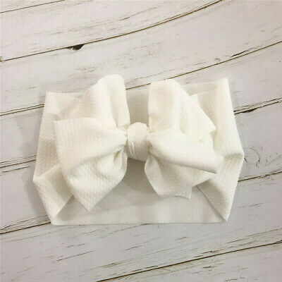 Fashion Infant Toddler Baby Girls Bow Headband Hairband Headwear Accessories US