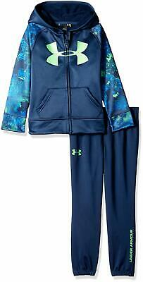 Under Armour Baby Boys Outfit Blue Size 18 Months Track Set with Hood $44 #290