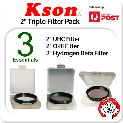 "Kson 2"" UHC, O-III, H-Beta (Hydrogen Beta) Triple Filter Pack"
