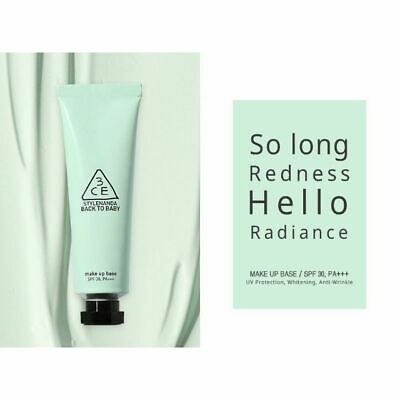 3CE Stylenanda Make Up Base 30ml SPF30 PA+++ / mint green Free Shipping