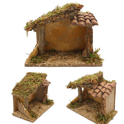 Christmas Traditional Nativity Stable / Shed Scene  89950