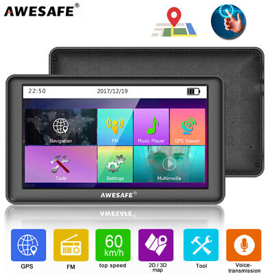 "9""AWESAFE GPS Navigator Portable SAT NAV with Bluetooth & Wired Reverse camera"