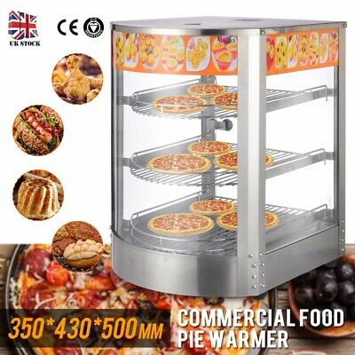 NEW Commercial Food Pie Warmer Counter Top Heated Curved Glass Hot Food Display