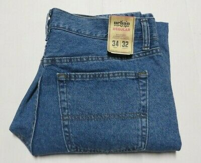 MEN'S URBAN PIPELINE Jeans Regular Fit Straight Leg Size 34 x 32 Blue Nwts $44