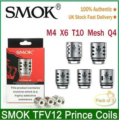 SMOK V12 PRINCE Replacement Coils Q4,X6 ,M4,T10,MESH For TFV12 Prince Tank 5Pack