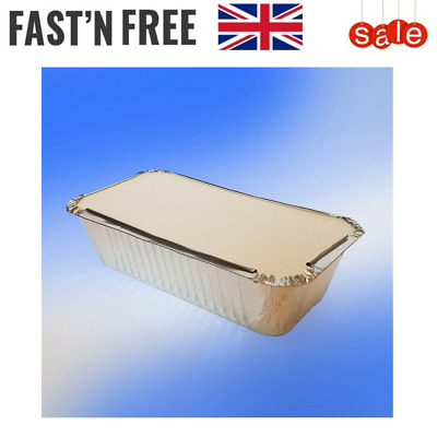 Aluminium Foil Food Takeaway Container With Lid - Takeaway or Home Use Box/Tub