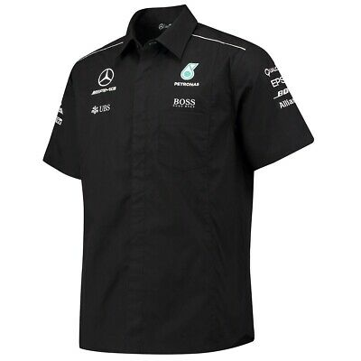 SHIRT Mercedes AMG Petronas Hamilton Men Teamshirt Formula One 1 F1 BLK US