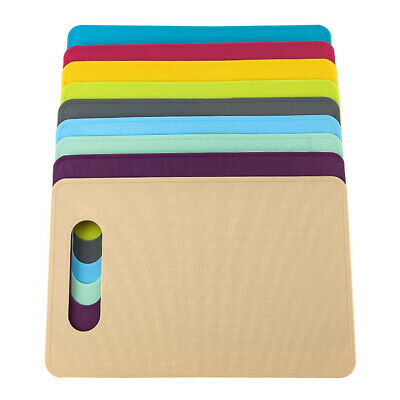 Bright Coloured Rectangle Cutting Board - Mat Slicing Plastic Kitchen Chopping