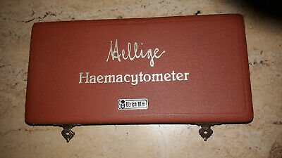 """Haemacytometer""altes chirogisches Instrument in Ovp""Firma Ulrich Ulm"