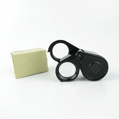 Carl Zeiss Jena Einschlaglupe 3x6x9x folding magnifying glass in OVP