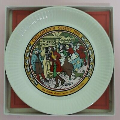 AS NEW ! Wedgwood Vintage Children's 1979 Boxed Story Plate THE GOLDEN GOOSE.