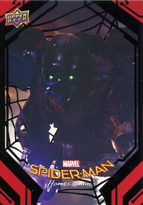 Spiderman Homecoming Black Foil [49] Base Card #68 The Vulture Strikes
