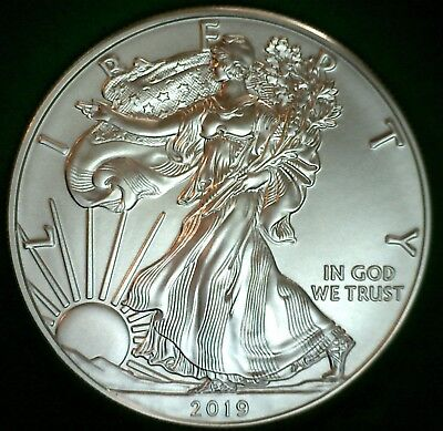 2019 BU American Silver Eagle One Dollar Uncirculated ASE US $1 Coin M2