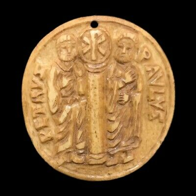 VERY RARE ANCIENT ROMAN PERIOD PICTORIAL PENDANT 2nd-3rd Cent AD