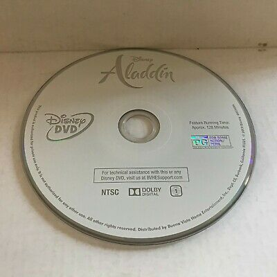 2019 Live Action Disney Aladdin with Will Smith Movie DVD Disc Only