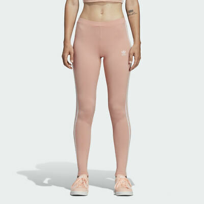 NEW Adidas $50 WOMEN'S ORIGINALS 3-STRIPES LEGGINGS DV2617 Dust Pink