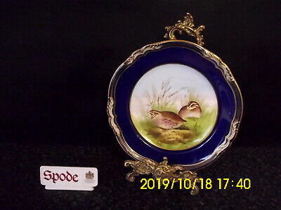 Spode Hand Painted V Burmded - Qual No.5 From Game Bird Series Cabinet Plate