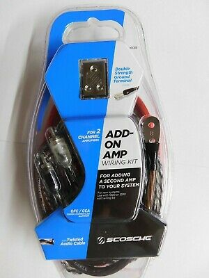 Scosche Kdadccsd Add On Amp Wiring Kit-1600 Or 1200 Watt For 2 Channel