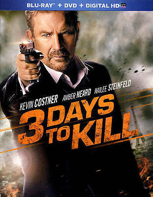3 Days to Kill (Blu-ray/DVD, 2014, 2-Disc Set) Kevin Costner WORLD SHIP AVAIL
