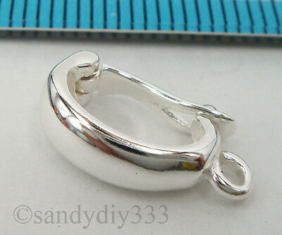 1x STERLING SILVER CHANGEABLE PENDANT BAIL CLASP SLIDER CONNECTOR #2065