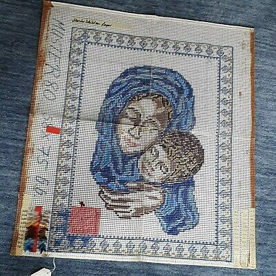 58 x 75cm German Rug Hooking Printed Canvas (Madonna w/Baby) Pattern SEE PICTURE