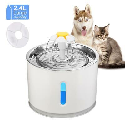 Automatic Cat Fountain Pet Drinking Water Dispenser Electric LED Dog Drinking