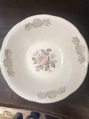 "Vintage Homer Laughlin Virginia Rose Moss Rose China~Serving Bowl~9"" x 4"" Tall"