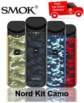 *Genuine* SMOK NORD Camouflage Resin Kit AIO Pod | Pack of 5x Coils | 1st Class