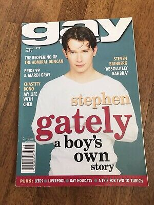 Very Rare Stephen Gately Gay Times Magazine Chastity Bono Aug 1999 Boyzone