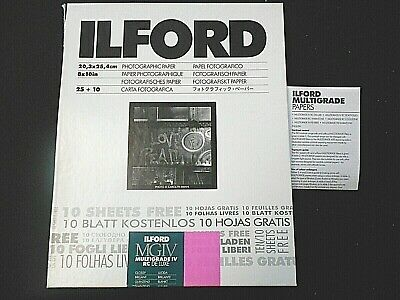 Ilford MGIV 8 x 10 in.  Multigrade IV RC DeLuxe Glossy  Photographic Paper