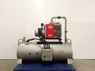 Edwards E1M40 High Vacuum Rotary Pump with Tank