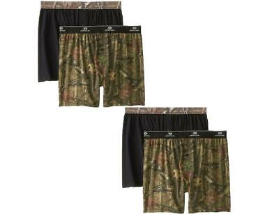 Men's Mossy Oak Moisture Wicking Boxer Shorts (4-Pack)