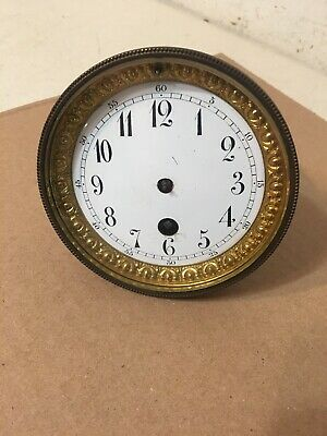 Antique French Mantle Clock Time Only Movement Unsigned Japy Marti Era