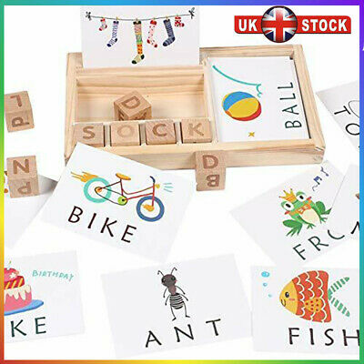 3-in-1 Spelling Learning Game Wooden Spelling Words Enlightenment Baby HOT