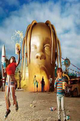 B31 Travis Scott Astroworld Day Night Cover 2019 Album Poster Art Canvas 24x36