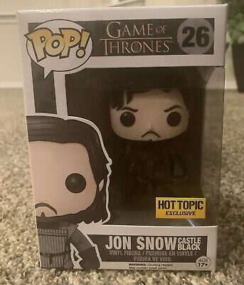 Funko POP! Game Of Thrones Castle Black Jon Snow Hot Topic Exclusive Figure