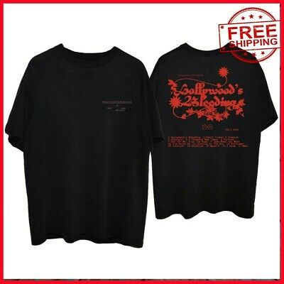 FREESHIP Post Malone Hollywood's Bleeding tracklist BLACK T-Shirt For Fan S-6XL