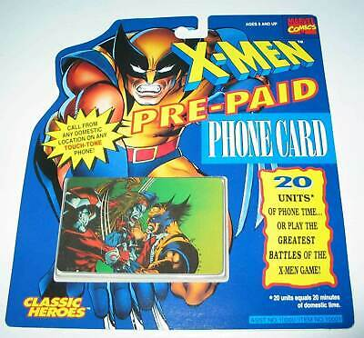 X-MEN PRE-PAID PHONE CARDS Wolverine vs Omega Red New Unopened 1994