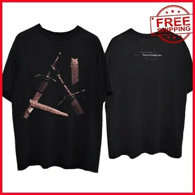 FREESHIP Post Malone Hollywood's Bleeding swords BLACK T-Shirt Full Size US TEE