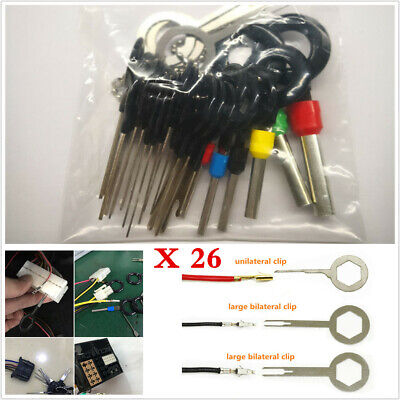 Motorcycle Terminal Removal Electrical Wiring Crimp Connector Pin Extractor 26pc