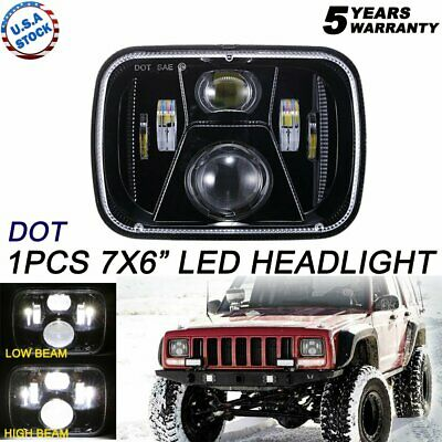 "Newest Brightest 105W 7X6"" 5X7"" LED Headlight DRL For Chevrolet Jeep Cherokee XJ"