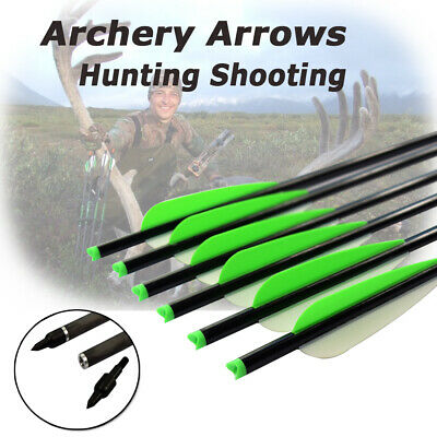 6X 16-22 Inch Carbon Crossbow Bolts Archery Arrows Bow Hunting Free Delivery