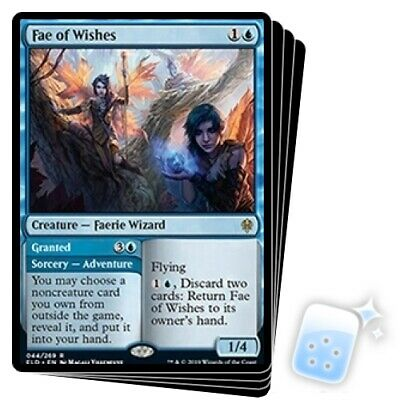 FAE OF WISHES X4 Throne Of Eldraine ELD Magic MTG MINT CARD