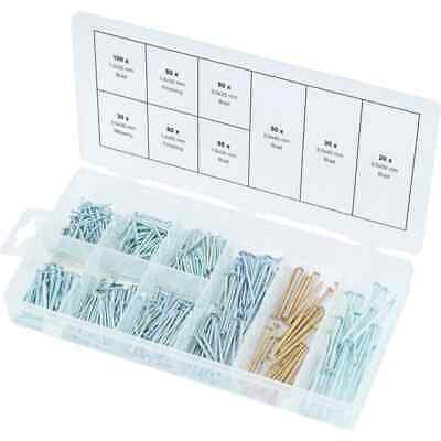 KS Tools 550 Piece Nails Assortment Carpentry Pin Fastener with Case Steel