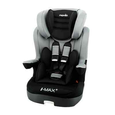 Nania Baby Car Seat LUXE I-Max SP 1+2+3 Grey and Black Booster Safety Seat